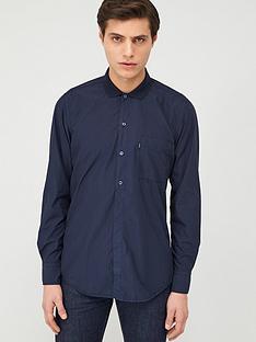 boss-roald-long-sleeve-shirt-with-jersey-collar-navy