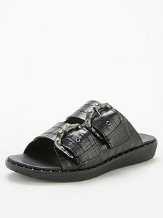 fitflop-kaia-bamboo-buckle-flat-sandal-black