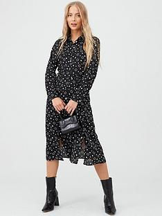 v-by-very-midi-shirt-dress-star-print