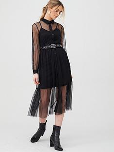 v-by-very-dobby-spot-mesh-shirt-dress-black