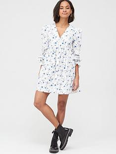 v-by-very-printed-cotton-smock-dress-blue-floral