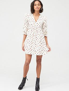 v-by-very-printed-cotton-smock-dress-red-floral