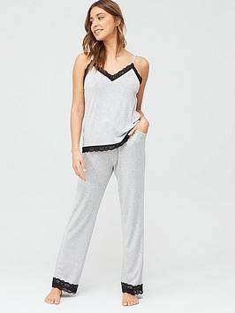 pour-moi-sofa-loves-lace-trouser-grey-marl