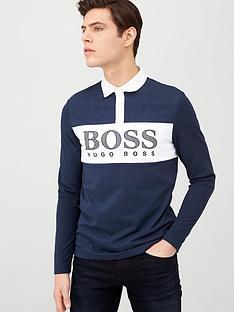 boss-plisy-colour-block-long-sleeve-polo-shirt-navy