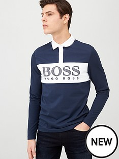 boss-plisy-colour-block-long-sleeve-polo-shirt-navy