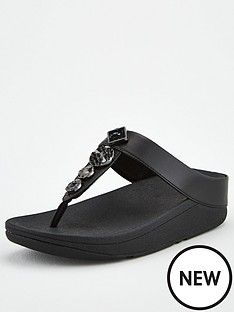 fitflop-fino-textured-circles-toe-post-sandal-black