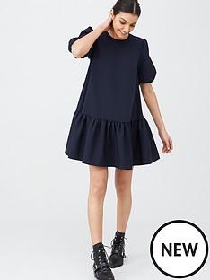 v-by-very-crepe-smock-dress-navy