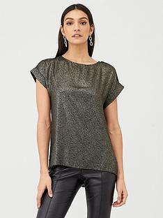 v-by-very-metallic-shell-top-silver