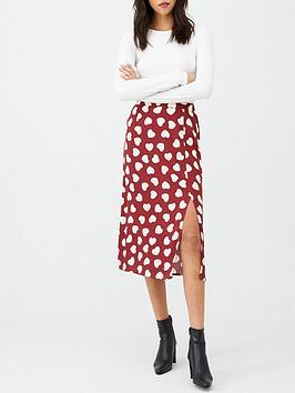 v-by-very-split-front-midi-skirt-heart-print