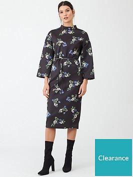v-by-very-tie-waist-printed-midi-dress-floral-print