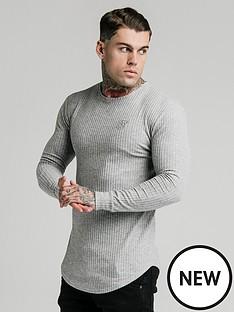 sik-silk-brushed-rib-knit-gym-t-shirt-grey
