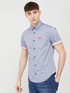 boss-biadia-short-sleeve-oxford-shirt-navy