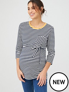 mama-licious-maternity-jersey-striped-top-whitenavy