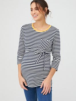 mama-licious-maternity-jersey-striped-top-whitenavy