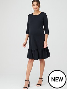 mama-licious-maternity-sasja-jersy-midi-dress-blacknbsp