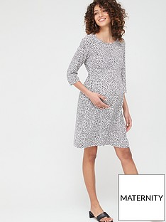 mama-licious-maternity-alica-spot-woven-dress-white-black