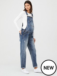mama-licious-maternity-denim-dungarees-blue-denim