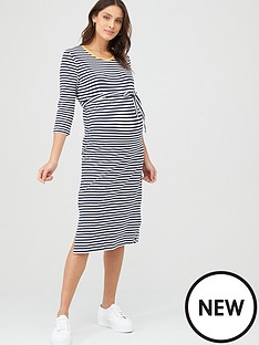 mama-licious-maternity-jersey-striped-midi-dress-whitenavynbsp