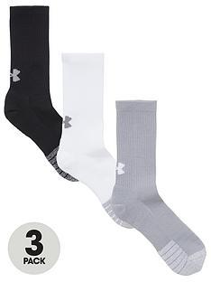 under-armour-heatgear-crew-socks-blackwhitegrey