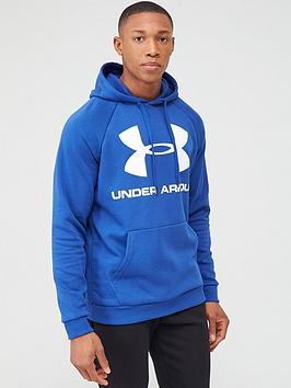 under-armour-rival-fleece-logo-overhead-hoodie-bluewhite