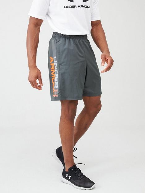 under-armour-trainingnbspwoven-graphic-wordmark-shorts-greyorange