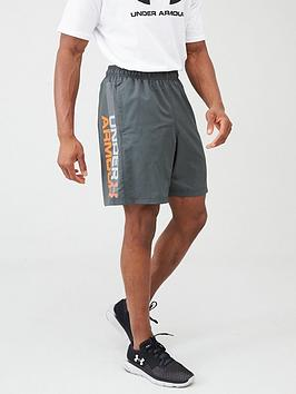 under-armour-trainingnbspwoven-graphic-wordmark-shorts-greyorange