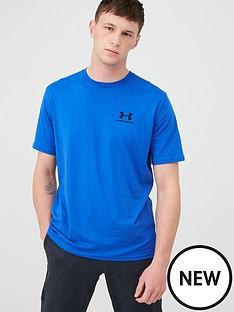 under-armour-sportstyle-left-chest-t-shirt-blueblack