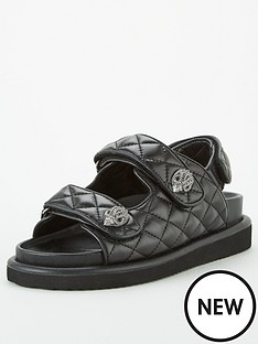 kurt-geiger-london-orson-flat-sandal-black
