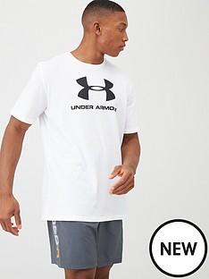 under-armour-sportstyle-logo-t-shirt-whiteblack