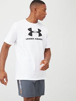 under-armour-trainingnbspsportstyle-logo-t-shirt-whiteblack