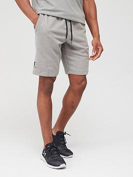 under-armour-speckled-fleece-shorts-greenblack