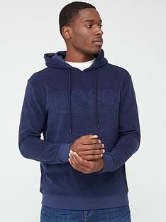 boss-towelling-overhead-hoodie-navy