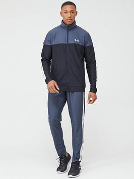 under-armour-sportstyle-pique-tracksuit-greywhite