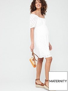 mama-licious-maternity-molly-jersey-broderie-dress-white