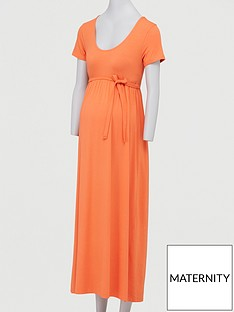 mama-licious-maternity-jersey-maxi-dress-with-tie-belt-orangenbsp