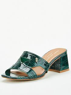 kurt-geiger-london-odina-block-heeled-mule-dark-green