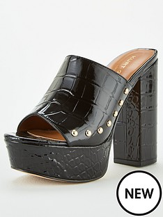 kurt-geiger-london-bree-heeled-mule-black
