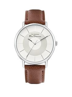 ben-sherman-ben-sherman-grey-and-silver-dial-tan-leather-strap-mens-watch