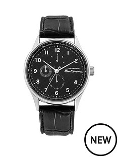 ben-sherman-ben-sherman-black-and-silver-detail-multi-dial-black-leather-strap-mens-watch