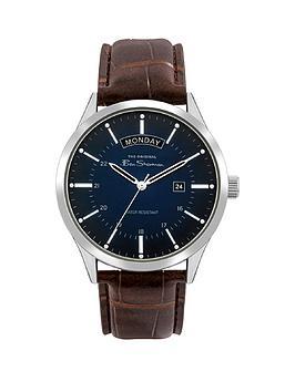 ben-sherman-ben-sherman-blue-and-silver-detail-daydate-dial-brown-leather-strap-mens-watch