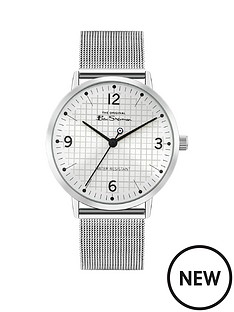 ben-sherman-ben-sherman-blush-dial-stainless-steel-mesh-strap-mens-watch