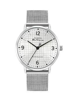 ben-sherman-ben-sherman-blush-dial-stainless-steel-mesh-strap-mens-watch