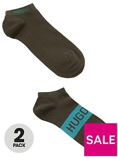 boss-bodywear-2-pack-logo-trainer-liner-socks-khaki