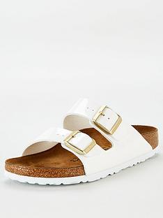 birkenstock-arizona-patent-flat-sandal-white
