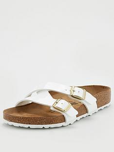 birkenstock-yao-strappy-slide-flat-sandals-white