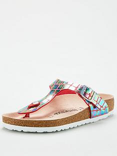 birkenstock-gizeh-metallic-flip-flops-raspberry