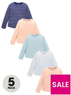 v-by-very-girls-5-pack-plain-and-striped-t-shirts-multi