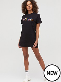 ellesse-heritage-exclusive-melin-t-shirt-dress-blacknbsp