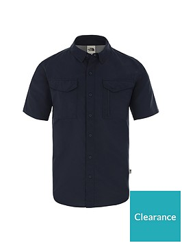 the-north-face-short-sleeve-sequoia-shirt-navynbsp