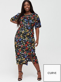 v-by-very-curve-angel-sleeve-viscose-midi-dress-ditsy-print